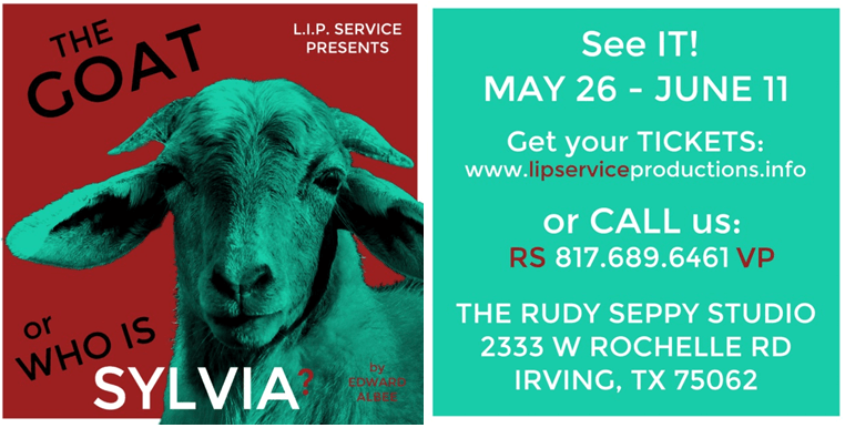 L.I.P. Service Productions - The Goat Or, Who is Sylvia? Logo
